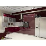 Кухня с крашенными фасадами №01