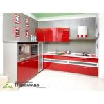 Кухня с крашенными фасадами №02