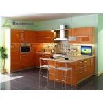 Кухня с крашенными фасадами №03