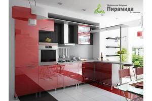 Кухня с крашенными фасадами №05