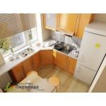 Кухня с фасадами из пластика №02