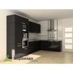 Кухня с фасадами из пластика №03
