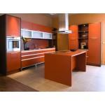 Кухня с фасадами из пластика №07