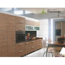 Кухня с фасадами из пластика №09