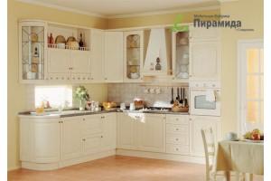 Кухня с шпонироваными фасадами №01