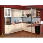 Кухня с шпонироваными фасадами №02