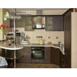Кухня с шпонироваными фасадами №04